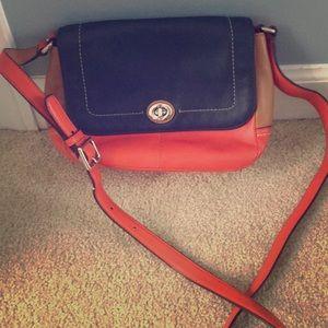 Coach crossbody bag. Block colors.
